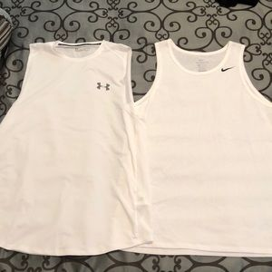 Men's Under armor, Nike workout tanks